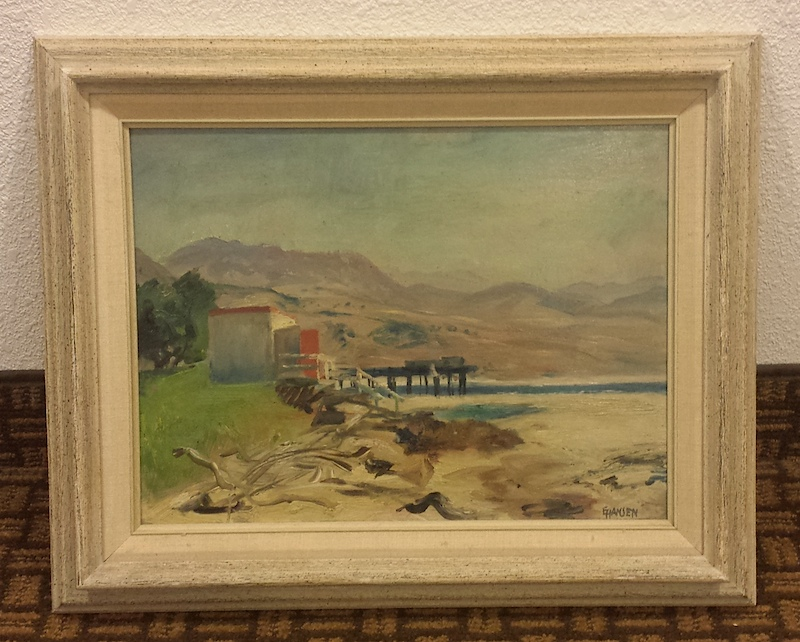 Found a lovely Ejnar Hansen painting for $5 at a norcal flea market