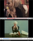 Susan Powter dines with Andy Warhol