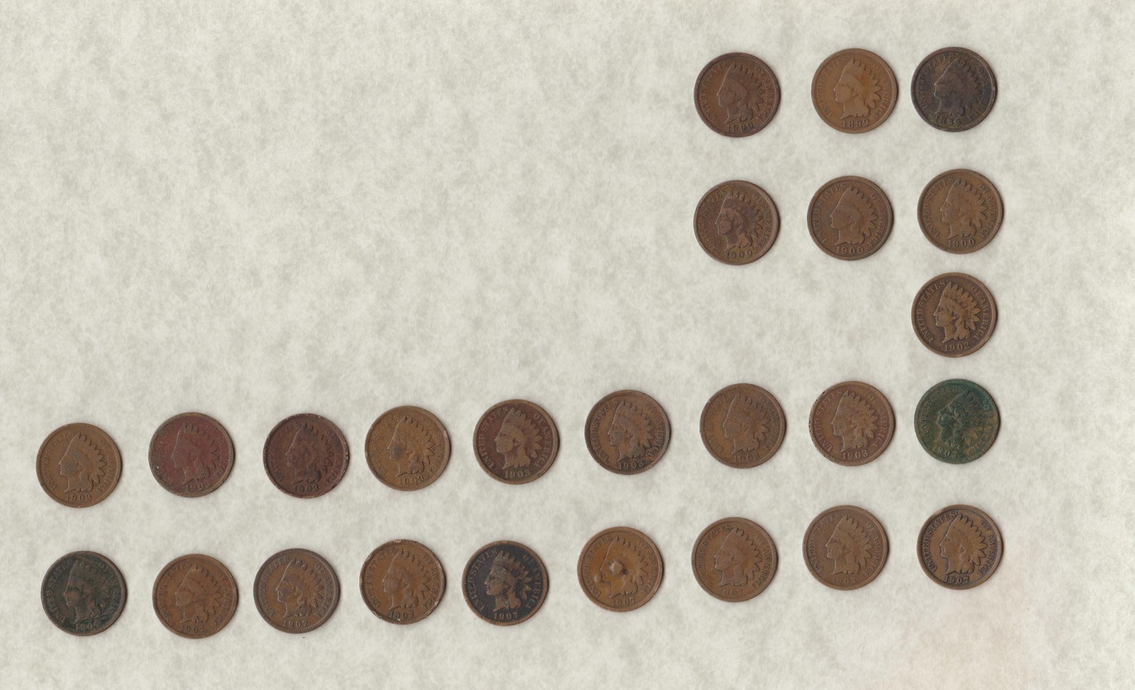 recently found indian head penny layout photo graph