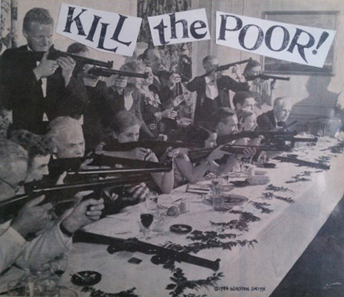 scored an original 1984 kill the poor collage by punk artist winston smith