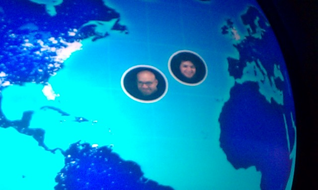 steve and darci on spaceship earth