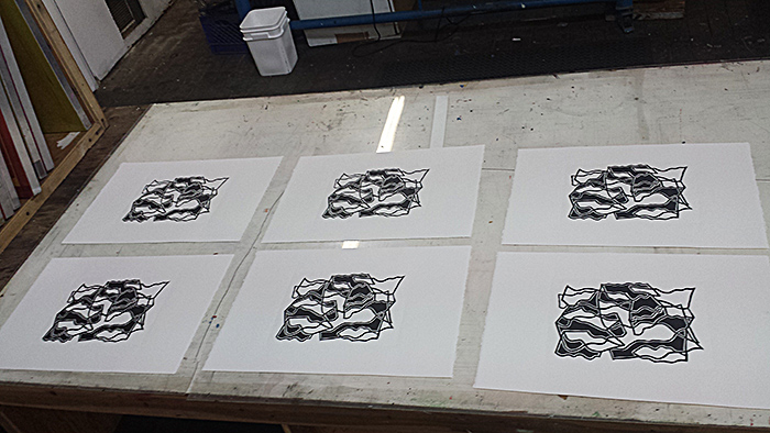 New Linocut Print Series (sneak peak)