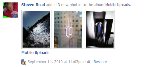 facebook wall photo thumbnails
